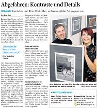 """Presseveröffentlichung zu Fotoausstellung """"Abgefahren"""" Fotokünstler Geraldine & Peter Roskothen"""