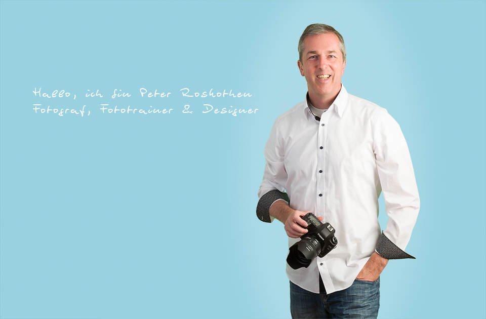 Fotograf, Fototrainer und Designer Peter Roskothen leistet erste Hilfe für Lightroom und Photoshop