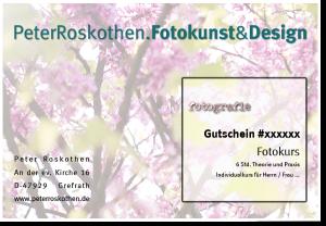 """Gutschein Fotokurs - Motiv """"Natur"""" Fotografieren lernen"""