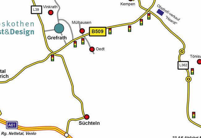 Karte Anfahrtsskizze Lageplan Wegbeschreibung für Webseiten