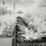 Verlassene Gleise, Infrarot-Foto