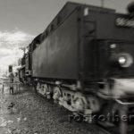 Lokomotive in grosser Fahrt, Infrarot-Foto