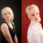 vorher-nachher Fotoshooting im Fotostudio Roskothen