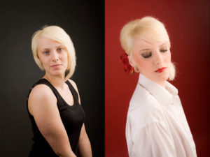 Styling und Makeup sind wichtig. Vorher-Nachher-Foto Peter Roskothen Fotograf