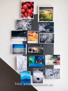 Schiefer Magnettafel für Fotos