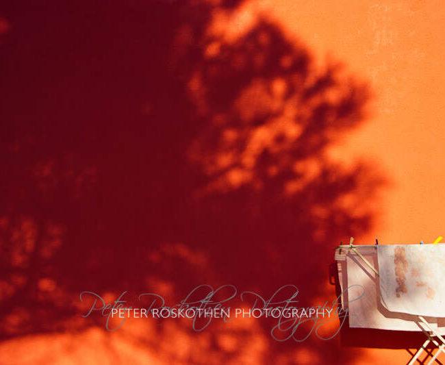 Fotokunst: Wäschetrockner trifft Baum