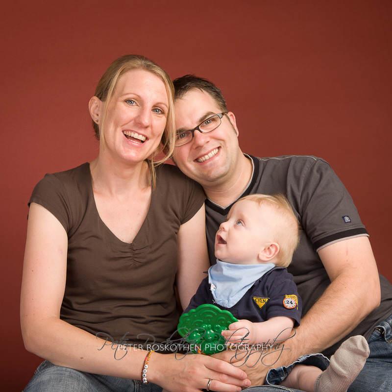 Familienfotos mit Jugendlichen