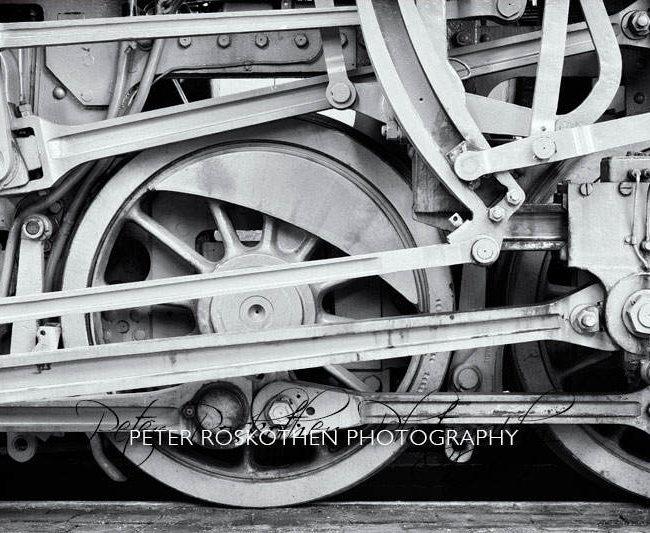 Eisenbahn Foto Schwarzweiss