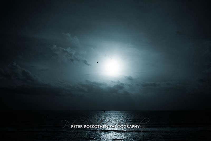 Urlaubsfoto am Meer / an der See Fotograf Peter Roskothen Fotokunst monochrom