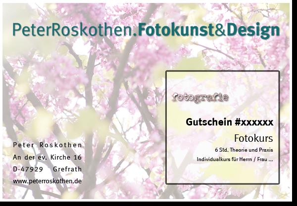 """Geschenkgutschein """"Natur"""" Fotoschule Landschaftsfotografie Naturfotografie Niederrhein"""