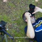 Fotoworkshop Naturfotografie Makrofotografie: Christian fotografierte auf dem Rücken liegend