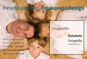 Geschenkgutschein Familienfotos
