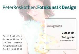 Geschenkgutschein Portrait Fotos Krefeld Fotograf Fotostudio Peter Roskotheh