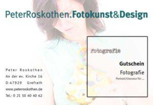 Geschenkgutschein Portrait Fotos - Geschenk Fotografie