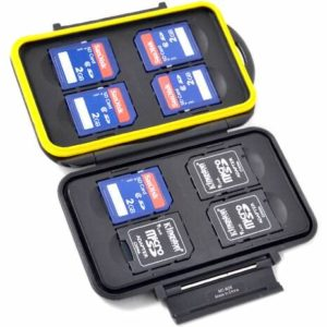 Speicherkarten Schutzbox für 8 SDHC / SDXC - Wasserdicht - Fotozubehör