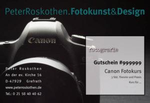 Canon Fotokurs, Fotoschulung, Geschenkgutschein Fotokurs, Kamera, EOS, Digitale Canon Kamera