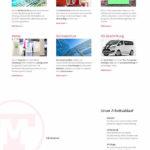 """Die Webseite auf einem 13"""" Monitor eines Notebooks"""