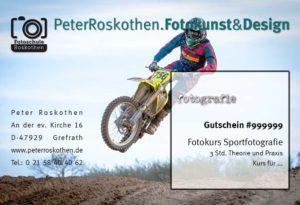 Geschenk Gutschein Fotokurs Sportfotografie
