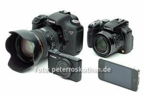 Digitale Kameras Übersicht, Fotoschule Roskothen
