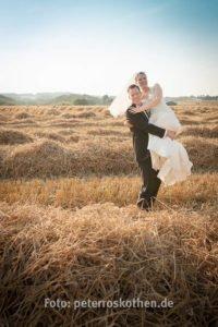Bearbeitetes Hochzeitsfoto