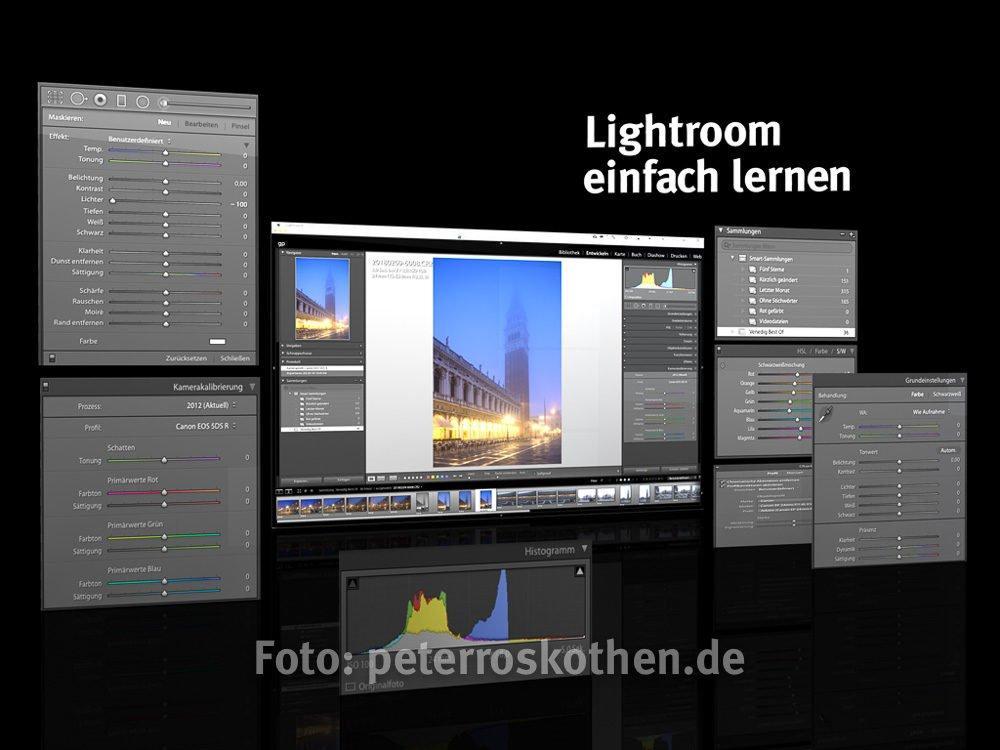 Adobe Lightroom einfach lernen - Fotokurs Lightroom Fotoschule Roskothen